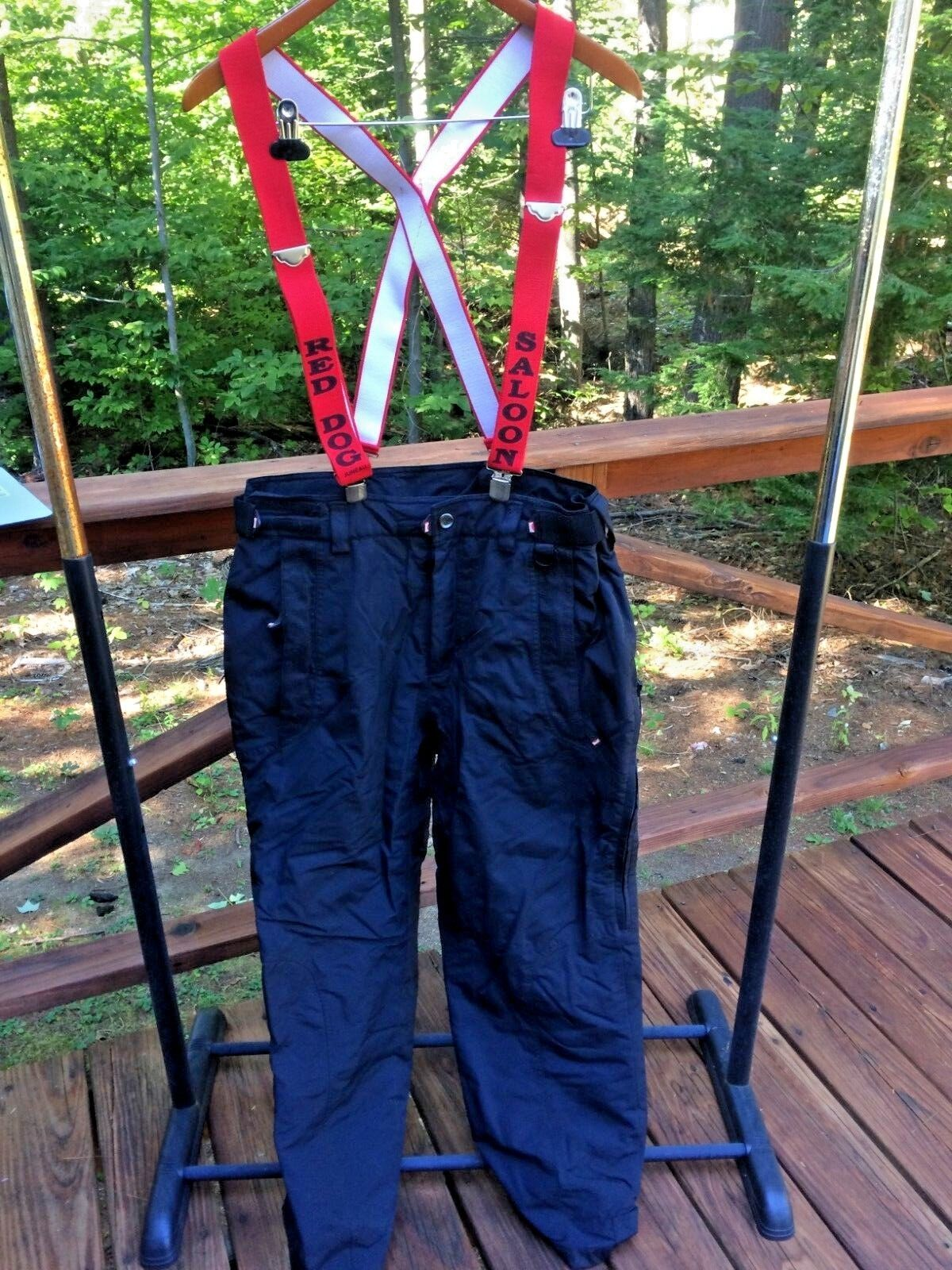 Marker Mens M Nylon Insulated Red Dog Saloon Suspenders Snow Snowboard Ski Pants