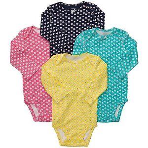 db8838f5a NWT Baby Girl Carter s Bodysuit 4pack Longsleeve 6M Months Bird ...