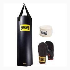 Everlast 100 lb Heavy Bag Boxing Black Punching Kickboxing Training MMA Gloves