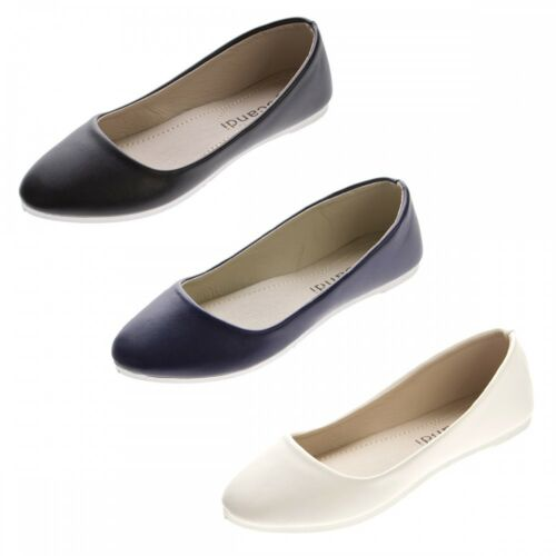 Damen Ballerinas Kunst Leder flach Schuhe viele Farben Slipper Sandalen 36-41