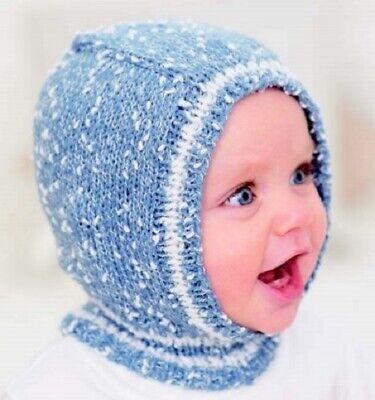CA026A Knitting Pattern Traditional Balaclava en dk fil Âge 4 To 5 ans facile