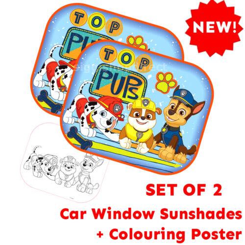 Poster Paw Patrol Boy Set of 2 Protectors Car Window Sunshades Baby Children