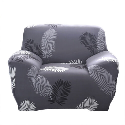 1 2 3 4 Seater Black Feather Sofa Cover Stretch Protector Couch Cover Slipcover
