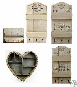 Wicker Wooden Heart Shape And Rustic Wall Letter Rack Hanging Shelf Storage Unit Ebay