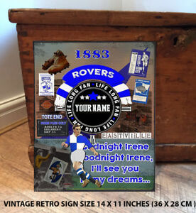 PERSONALISED-BRISTOL-ROVERS-NO1-FAN-FOOTBALL-Vintage-Metal-Wall-Sign