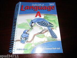 Abeka God's Gift of Language A  Teacher Answer Key Grade 4