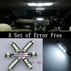 Error-Free-White-Led-Interior-Bulb-Light-Package-Kit-20X-For-Benz-W204-08-13-Y1