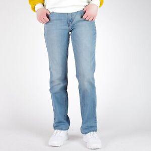 Levi-039-s-505-Straight-leg-hellblau-Damen-Jeans-DE-38-W30-L32