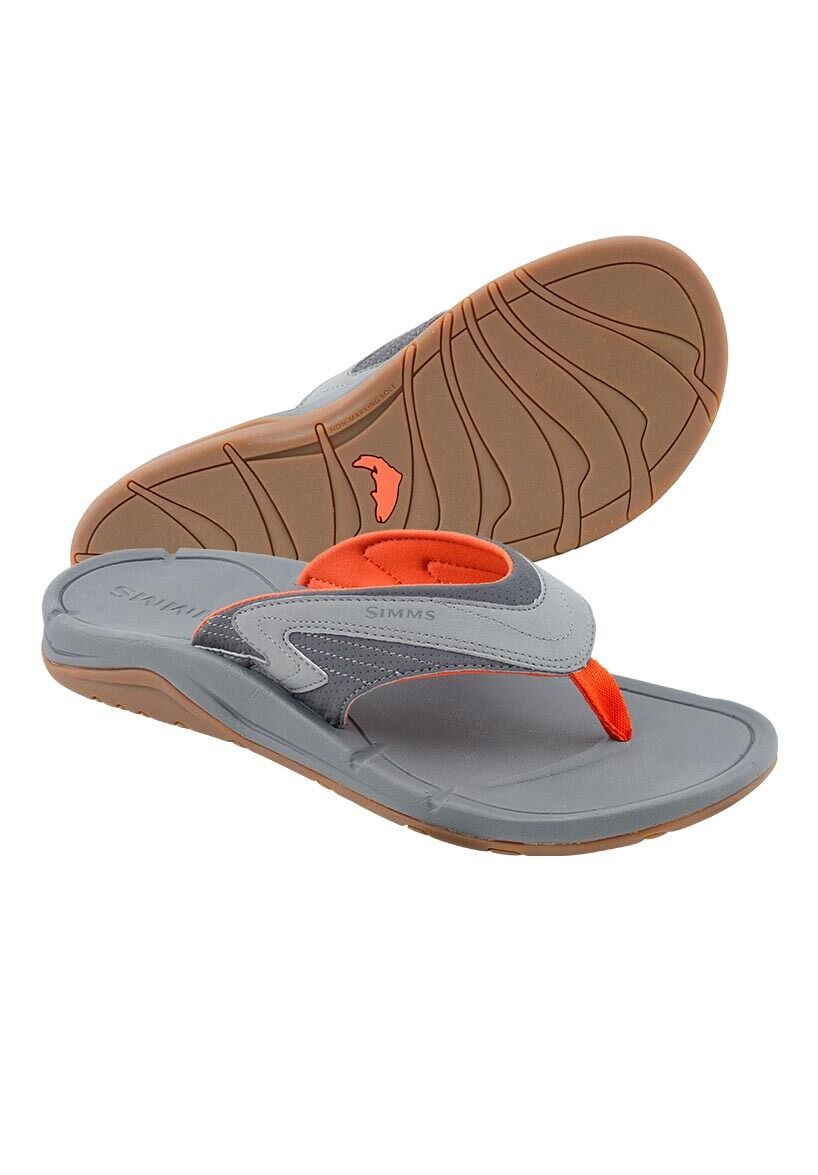 Simms ATOLL Flip Flops Size 8  Concrete NEW  Closeout