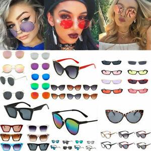Hot-Unisex-Men-Women-039-s-Round-Sunglasses-Vintage-Retro-Oversized-Mirror-Glasses