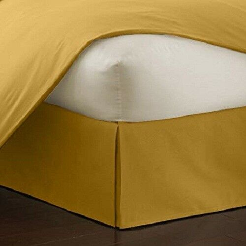 New Sale Extra PKT 1Qty Bed Skirt Pima Cotton 1000 TC All Size  gold Solid