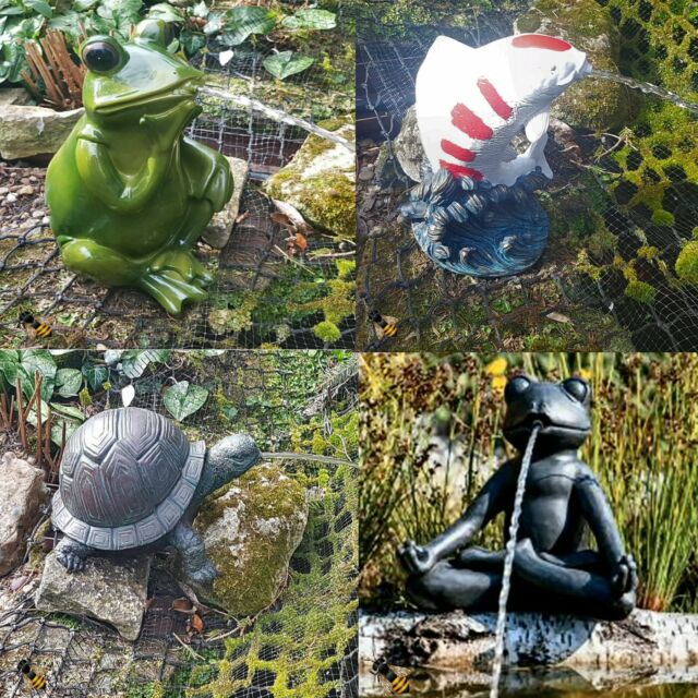 Bermuda Tortoise Pond Spitter Garden Water Feature Ornament Statue
