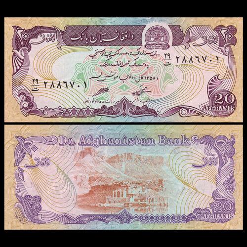 Afghanistan 20 Afghanis UNC P-56,banknotes 1979
