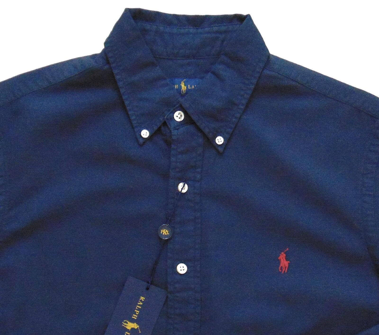 Men's RALPH LAUREN Navy bluee Pinpoint Cotton Shirt XXL 2XL NWT NEW Nice