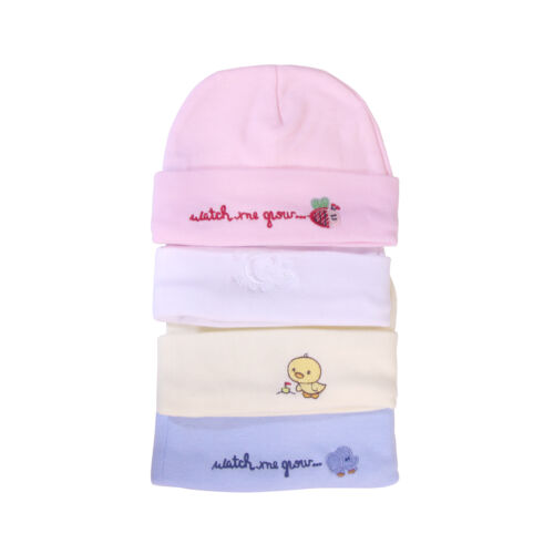 Baby Girls//Boys Winter Bonnet//Hat 100/% Soft Cotton Blue-White-Pink-Yellow