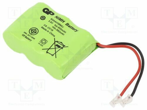 1 pcs Re-battery cables Ni-MH; 2//3AA,2//3R6; 3.6V; 600mAh; Leads