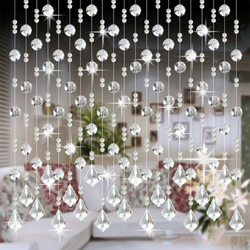 Crystal Glass Bead Curtain Luxury Living Room Bedroom Window Bathroom Decor UK