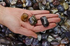 1 Pound Tumbled Grey Botswana Agate - 'AA' Grade - Wire Wrapping, Reiki, Wicca