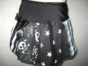 Baby skulls Skirt Girls Black white stars stripes tartan Birthday Gift Pirates