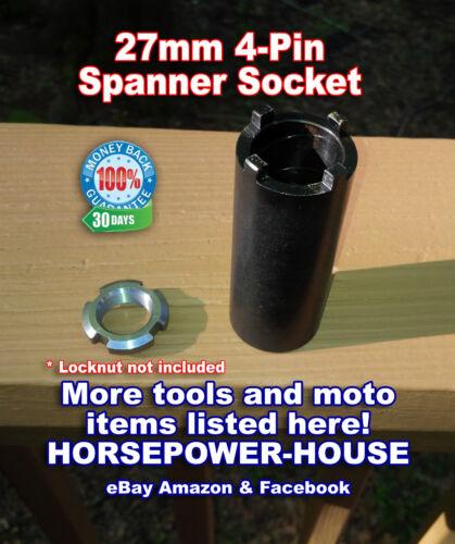 27mm SPANNER TOOL SOCKET for 20mm CLUTCH LOCKNUT @ HONDA CX500 CM400 CM450 CMX