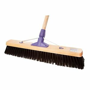 Hard-Bristle-Polypropelene-24-034-Heavy-Duty-Sweeping-Brush-Yard-Broom-x-2