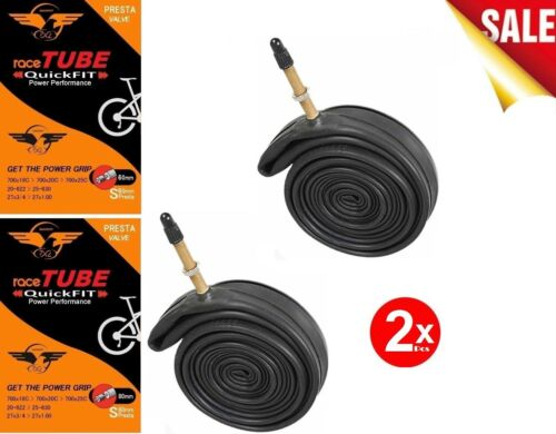 2x2 QuickFit TT Road Bike Race Tubes 700C 18-25mm 60mm Valve 10 Pack *New*