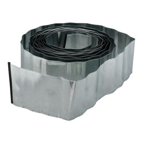 Rasenkante 10m Metall Beetbegrenzung Rasenbegrenzung Beetkante verzinkt flexibel