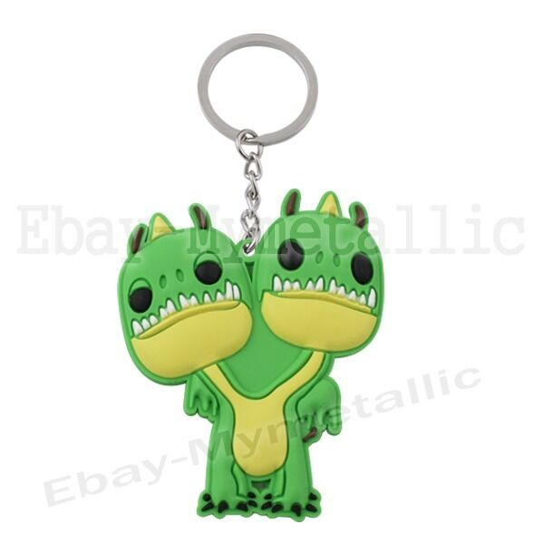 How To Train Your Dragon Barf and Belch PVC Pendant Metal Key Ring Chain #05