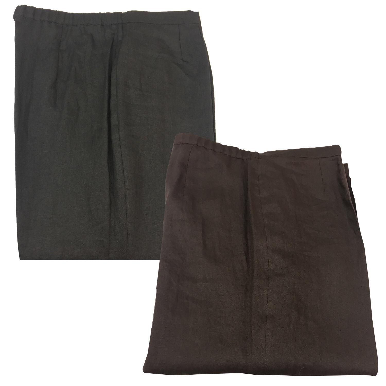 ELENA MIRO' women's trousers with elastic 100% linen cm base. 23