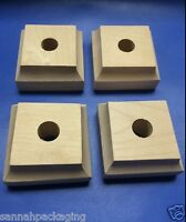 Lot Of 8 Unfinished Wood Furniture Feet Legs 1 Tall 2 Square