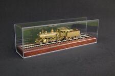 "HO Scale 13"" Model Train Display Case With Wood Base - Walnut Finish"
