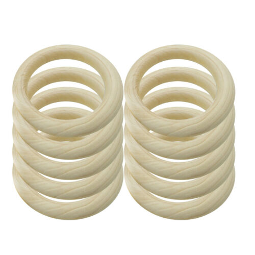 20Pcs Wood Circles Rings Pendant Connector Wooden Craft Jewelry Making