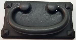 Superb Image Is Loading DISTRESSED BLACK DOUBLE Horizontal Mission Style Drawer  Pull