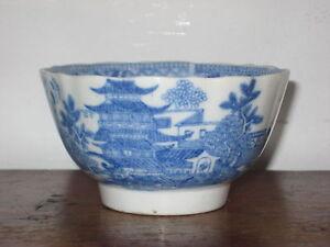 Early 19TH C anglais REGENCY PÉRIODE Bol à Thé Bleu & Blanc Décoration-afficher le titre d`origine PaQgstXh-09163447-675808965