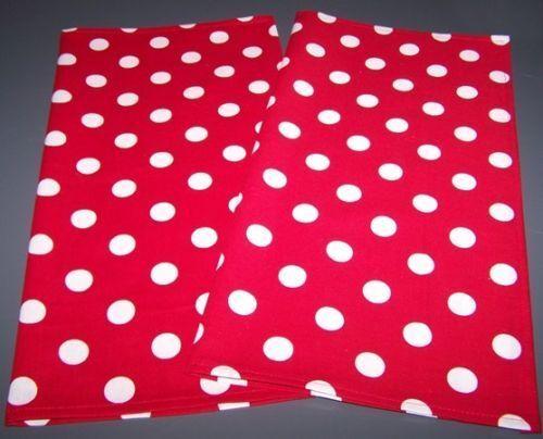 Red Polka Dot Standard//Queen//King Pillowcase Set NEW
