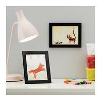 Ikea Picture Frames 2-pk Black 5x7 Fiskbo Wood Frames Free Shipping