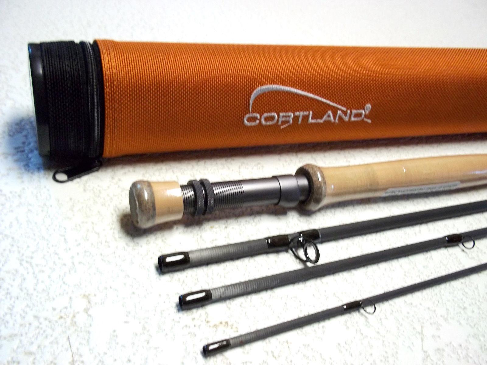 Cortland Wettbewerb Nymph Fliegen Rod 10 Fuß 6 Zoll 4 Gewicht 4 pc Neue W free Ringe