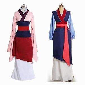 Hua Mulan Dress Blue Dress Princess Dress Movie Cosplay ...