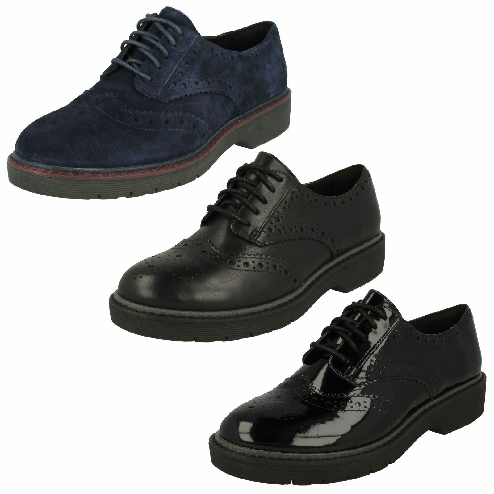 Damenschuhe Clarks Lace Up Casual Schuhes Alexa Darcy