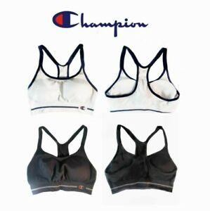 Champion-Sports-Bra-Women-039-s-New-Small-Seamless-Racerback-Black-White