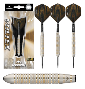 Mission Darts Steel Dart Dartpfeile Voltex M2 Electro Brass Messing 23g 25g