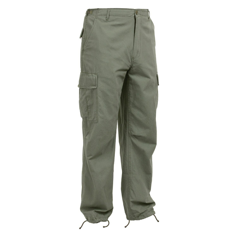 NEW redhco Vintage Replica Vietnam  Era R S Men's Medium Olive Drab Fatigue Pants  official authorization