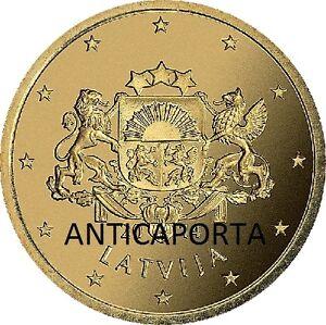 3 Monnaies De 20 Cent Lettonie 2014 20 Cents Écusson Complet Fior De Monnaie