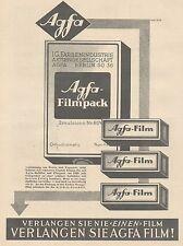 J1492 AGFA Filmpack - Pubblicità grande formato - 1929 Old advertising