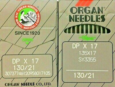 Órgano DPX17 135X17 SY3355 130//21 aguja para máquina de Coser Industrial Pie