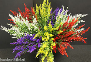 ARTIFICIAL 37CM LAVENDER HEATHER SPRAY STEMS WEDDING FLORAL FLOWER HOME DISPLAY