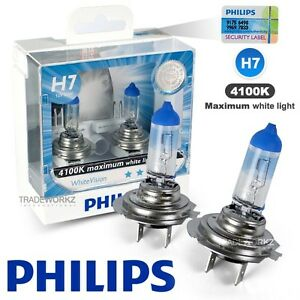 Image Is Loading Genuine PHILIPS H7 White Vision Hi Lo Halogen