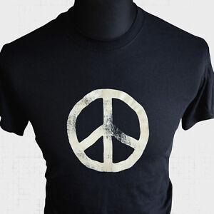 CND-Camiseta-Con-Logo-Retro-70-039-s-ANOS-80-campana-para-desarme-nuclear