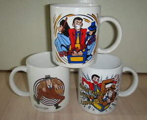 3x-Lupin-the-Third-30th-Anniversary-Esso-Mug-1997-Jigen-Goemon-JAPAN-ANIME-MANGA