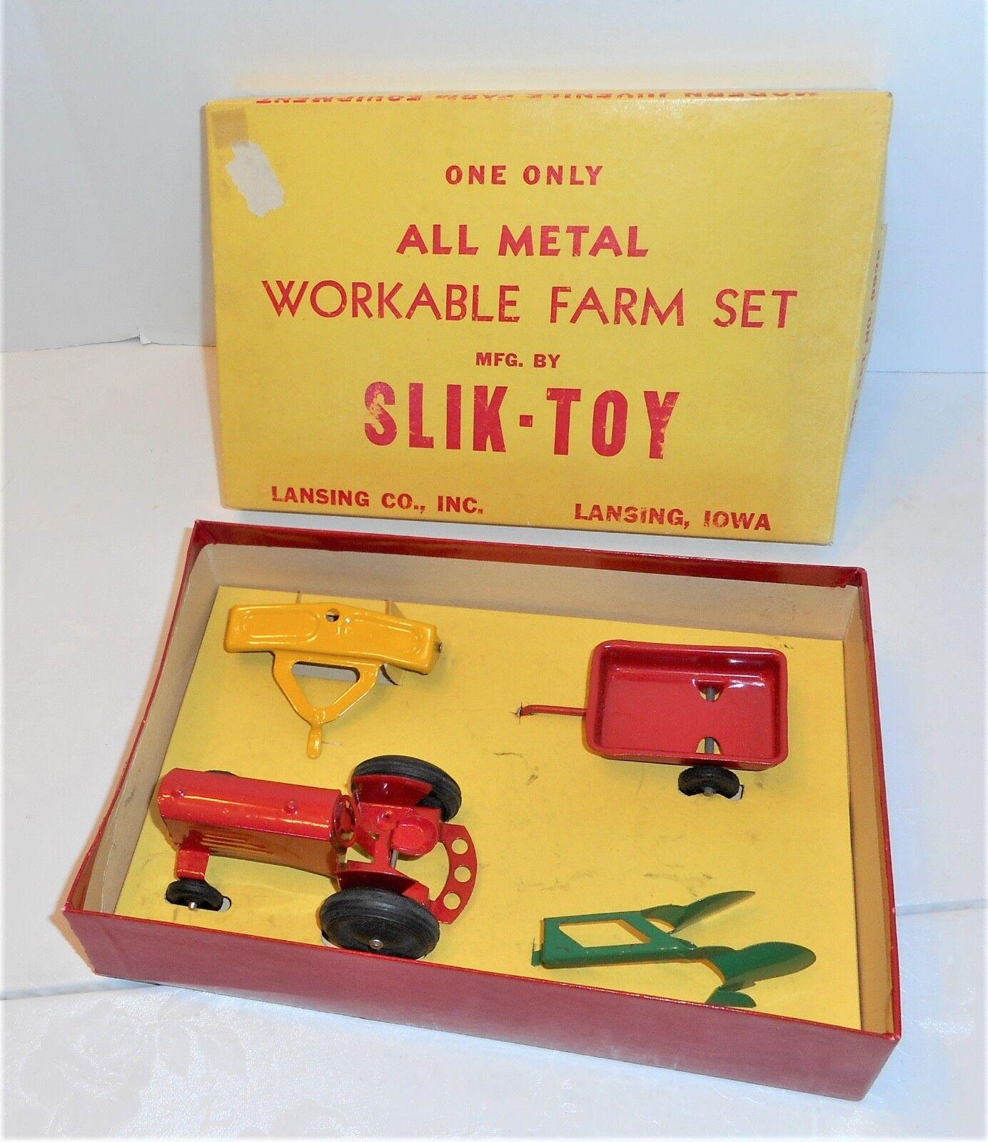 Tous les Métal Slik Oliver jouet tracteur réalisable Farm Set New In Box